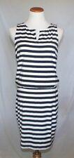 Athleta Dress XS Navy Blue White Striped Tank Sheath Knit T20