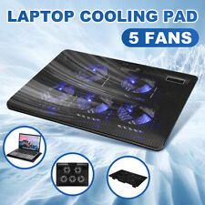5 Powerful Fans Quiet Laptop Cooler Notebook Cooling Cooler Stand Pad Gaming