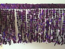 Sequin Tassel Trim 30cm Luxury Fringe Fringing *8 DIFFERENT COLOURS* X 1 YD