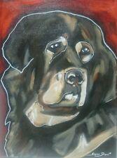 Original Tibetan Mastiff Dog puppy Painting Susan Dunn South Carolina pet pup