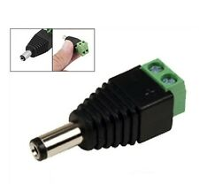1 PCS Male Polarity DC Power Jack Adapter Connector Plug for Led light 5.5x2.1mm