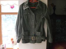 New Look Ladies jacket, 10, Green, belt