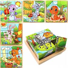 Play Toy Cubes Blocks For Kids Toddler Educational Toy Puzzle. - Animal Series