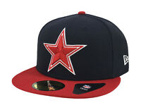 New Era 59Fifty Cap Mens NFL Dallas Cowboys Navy Blue Red Star Fitted 5950 Hat