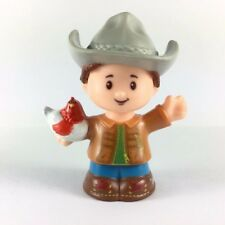 Fisher-Price Little People Cowboy Farmer Boy with animal Figure Cute Toy Doll