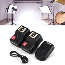 trasmettitore flash trigger a 4 canali con 2 ricevitori per Nikon/Canon PT-16GY