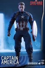 Hot Toys Captain America guerre civile Chris Evans 1:6 figure Neuf Scellé UK