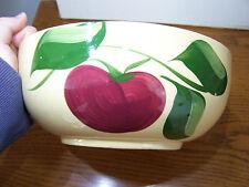 Watt Pottery #73 Apple Bowl with Advertising