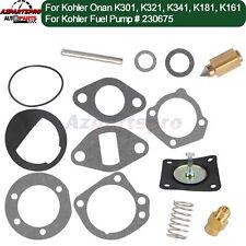 Fuel Pump Rebuild Kit w/ Spring for Kohler Onan Tractor Generator Replace 230675
