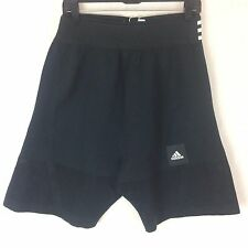 Men's adidas Icon knit black workout basketball athletic shorts Size S New tags