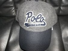 NWT Mens Gray Wool Polo Ralph Lauren Football Baseball Cap Leather Strap New