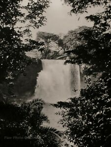 1926 Original AFRICA Tana River Water Falls Kenya WALTER MITTELHOLZER Photo Art