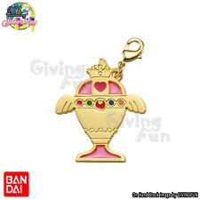 BANDAI Sailor Moon Die-cast Metal Charm Keychain Key Ring - Rainbow Moon Chalice