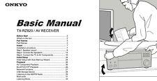 Onkyo Integra Tx-Rz820 Av Controller Owners Instruction Manual Free Shipping
