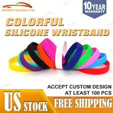 1 Color Text Custom Logo Silicone Wristband your Personalised design on band