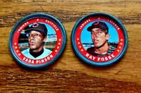 1971 Topps COINS #18 Vada Pinson and #42 Ray Fosse - Indians