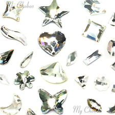 10 Assorted Mixed Shapes Swarovski Crystal Flatback nail art clear CRYSTAL (001)