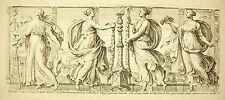 Danses des femmes par suite d'un mariage antique gravure c François Perrier 1645