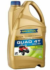 RAVENOL 4-Stroke ATV/Quad Oil 10W-40 Synthetic Blend – JASO MA2 Approved – 4L