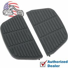 Black Rubber Passenger Floorboard Replacement Inserts Harley Touring Softail FL