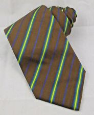 "BURBERRY London MEN'S Tie Brown STRIPE Pattern Silk Blend 58"" Long x 3-3/4"" Wide"