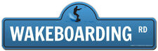 Wakeboarding Street Sign  | Funny Home Decor Garage Wall Lover Plastic Gift