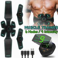 Cinturón de tonificación muscular USB ABS Gear Entrenador abdominal