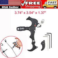 Automatic Archery Bow Release Aids 3 or 4 Finger Grip Thumb Caliper Trigger HOT