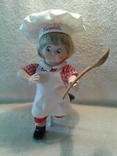 "1996 Campbell's Soup Kid's The Dancing Chef Porcelain Doll Danbury Mint 10"" Tall"