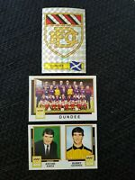 Panini Football 86 Dundee - x9 stickers - complete team set