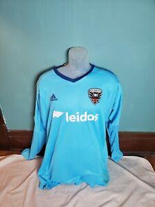 Adidas Adizero MLS DC United  Soccer Goalkeeper Jersey Men's Size 10 (XL) Blue