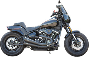 S&S Black Grand National 2 Into 2 2-2 Exhaust Pipe System Harley Softail 18+ M8
