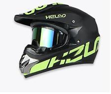 Motocross Open Full Face Helmet Motorcycle Dirt Bike Helmets With Goggles Black Yellow XL