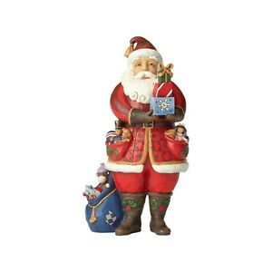 Jim Shore As You Wish Santa Holding Presents With Toys 4058787 MIB