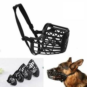 Dog Muzzle Mask Adjustable Mouth Grooming Anti Stop Bite Bark Pet Z4D4