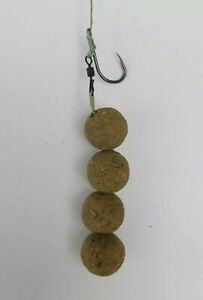 5 x Catfish Block Rigs Size 2/0 BARBLESS - 75lb Braid