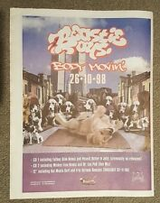 Beastie Boys Body Movin' 1998 press advert Full page 30 x 40 cm mini poster