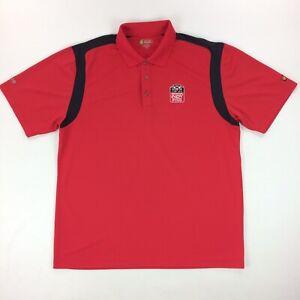 Honda Indy Grand Prix of Alabama Men's L Red Polo Shirt Izod XFG Golf Short Slv