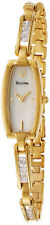 BULOVA DRESS MOP DIAL CRYSTALS GOLD-TONE STAINLESS STEEL WOMEN'S WATCH 97V27 NEW