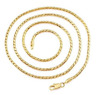 "Ladies 18"" Inch 22K Yellow Gold GP Snake Chain Link 3mm Necklace N43"