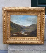 Antique Master Oil.  Norwegian fjord landscape. Ca 1840 + Original frame.