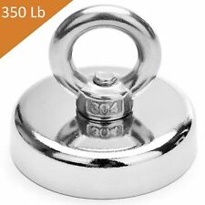 Fishing Magnet 350 Lbs Super Strong Neodymium Round Thick Eye Bolt 236 Inch