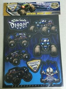 D'COR Decal Sheet Son-Uva Digger Monster Jam Monster Trucks 40-90-210