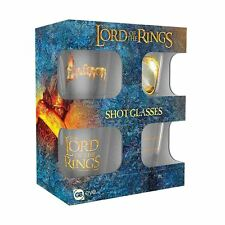 Officially Licensed Lord of the Rings Design Set of 4 Shot Glasses - Boxed