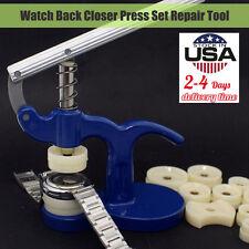 Watch Back Closer Watchmaker Press Set Repair Tool Plastic Case Crystal Glass US