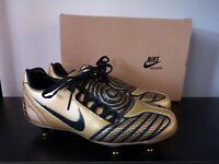 BNIB Nike Total 90 Laser II Gold Black Football Boots - UK 6