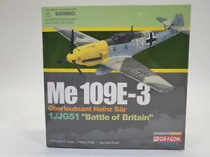 SDG Dragon Wings 50047 Me 109E-3 Battle Of Britain 1:72 Scale Diecast Model EUC