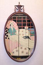 Elegant Antique English Hepplewhite Carved Oval Mirror