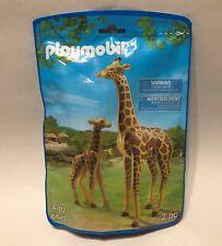 New Sealed Playmobil Animals Giraffe With Calf Building Set 6640