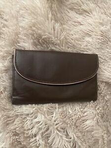 Golunksi Brown Leather Purse/ Wallet